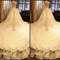 Sweetheart Beaded Crystal Beautiful Sexy Ball Gown XVGX from YZ Fashion Bridal