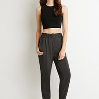Pleat-Front Woven Joggers