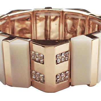 Luxe Collection Cream Bracelet