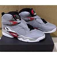Air Jordan 8 AJ8 3M Silver/Red