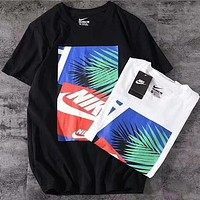 NIKE 2018 counter colorful printing new T-shirt F-A-BM-YSHY Black