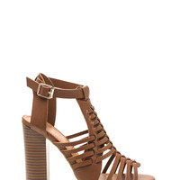 Weave It To Us Faux Leather Heels