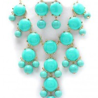 Teal Bubble necklace J Crew Inspired