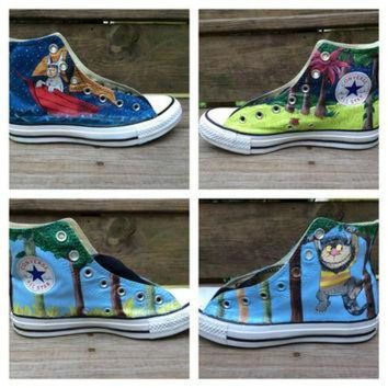 CREYONB Where the Wild Things Are Custom Hand Painted Converse Shoes