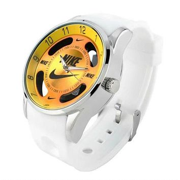 NIKE fashion exquisite watch  F-PS-XSDZBSH White yellow