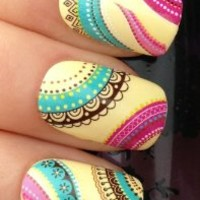 NAIL ART WRAPS WATER TRANSFERS/STICKERS DECALS ETHNIC BOHO PATTERN #238. make sure your buying from the ORIGINAL at your fingertips nail art design