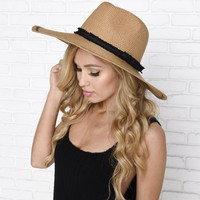 Catch Some Rays Floppy Hat in Tan