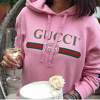 GUCCI classic printed letter pullover hoodie