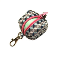 EOS style lip balm holder zipper pouch with clip - for circle or egg shape lip balms - CUSTOM, you pick