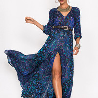 Kiss The Sky Gown - Bluejay