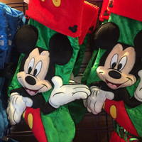 disney parks christmas holiday stocking mickey mouse icons new with tags