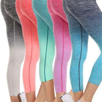 Ombre Active Capri Leggings