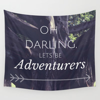 Adventurers Wall Tapestry by Emily Lanier