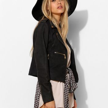 Members Only Wax Seam Moto Jacket - Urban Outfitters