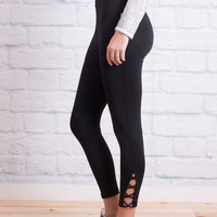 Lattice Yoga Legging- Black