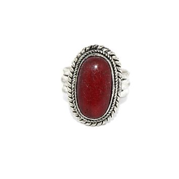 Oval coral ring