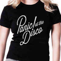 Panic At The Disco R FD Womens T-shirt Black and White