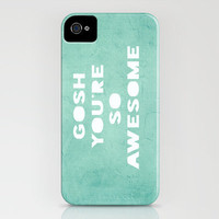 Gosh iPhone Case by Rachel Burbee | Society6