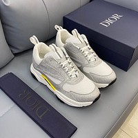 DIOR  Men Fashion Boots fashionable Casual leather Breathable Sneakers Running Shoes 01