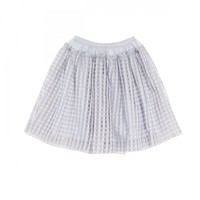 Check lace skirt
