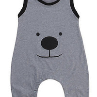 NEW ARRIVAL Newborn Baby Boys Cotton Romper Sleeve Cute Bear Jumpsuit Outfit Clothes