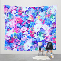 Flowers 1 Wall Tapestry by Haroulita