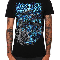 Avenged Sevenfold Blue Electricity Slim-Fit T-Shirt | Hot Topic