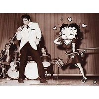 Starstruck Betty (with Elvis) - Limited Edition Lithograph on Paper by King Features Syndicate, Inc