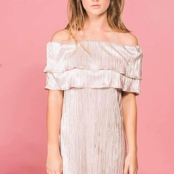 Blush Off The Shoulder Dress