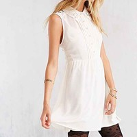 COPE Lace-Collar Button-Front Dress-