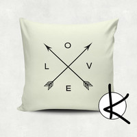 Love Arrows, Arrow Art, Cushion Cover - Hot Pink, Orange, Blue, Yellow, Pink, Hot Pink, Cream