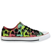Converse Chuck Taylor Black Skull Carnival Pink Ox Trainers - Buy Online at Grindstore.com