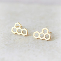 Beehive earrings / choose your color / gold and silver