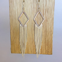 Disco Fringe Earrings – Silver