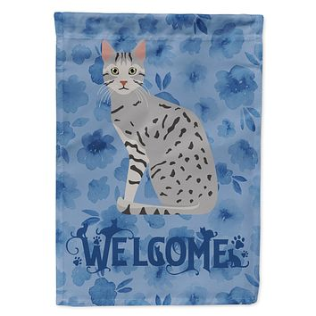 Egyptian Mau Cat Welcome Flag Garden Size CK5032GF