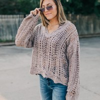 White Crow Raina Open Weave Sweater - Women's Sweaters in Oat | Buckle