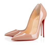 Christian Louboutin Cl So Kate Nude Patent Leather 120mm Stiletto Heel Fw13