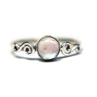 M.C Swirls Moonstone Ring (Sterling Silver)