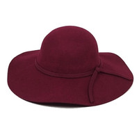 Wool Floppy Hat - Black or Red