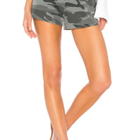 Splendid Camo Active Shorts in Vintage Olive Branch