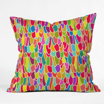 Sharon Turner Tickle Me Outdoor Throw Pillow