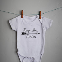 Personalized baby name Onesuit for Boy or Girl