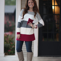 Wrapped in Color Top - Burgundy