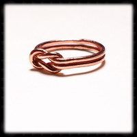 Copper Love Knot Ring