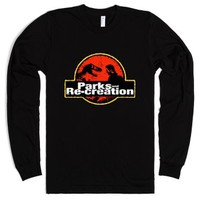 Jurassic Parks and Re-Creation-Unisex Black T-Shirt
