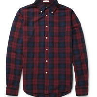 Gant Rugger Plaid Button-Down Collar Cotton Oxford Shirt | MR PORTER