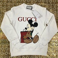 GUCCI GG men's and women's cotton round neck long-sleeved sweater