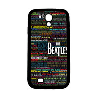 the beatles typography song lyric Samsung Galaxy S4 Case