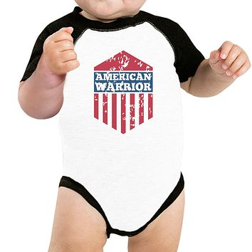 American Warrior First 4th Of July Baseball Raglan Shirt For Baby