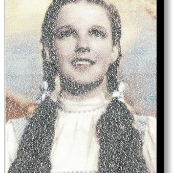 Wizard Of Oz Dorothy Somewhere Over the Rainbow Mosaic Framed Limited Edition
